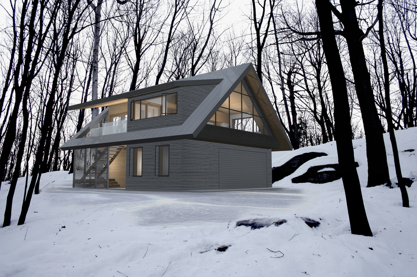 Blacklab architects inc toronto modern architecture for Coach house garage cost